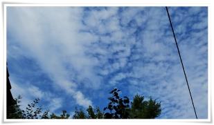 18-Juli blauer Wolkenhimmel :)